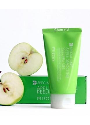 Пілінг-скатка яблучна mizon special care apple smoothie peeling gel, 120мл