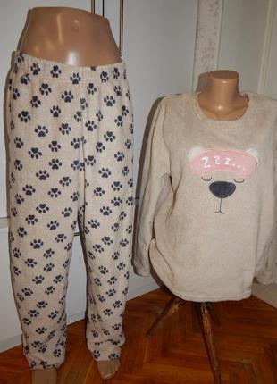 Love to lounge костюм домашний плюшевый пижама кофта со штанишками uk12/14 eur10/42