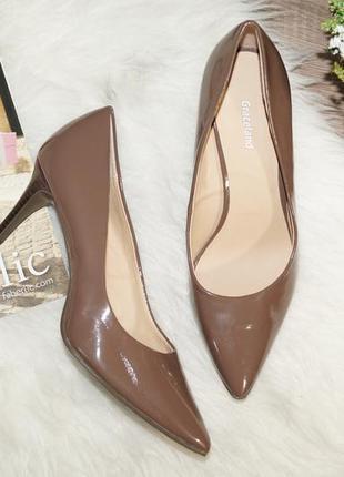 (38р./25,5см) graceland! стильные туфли-лодочки