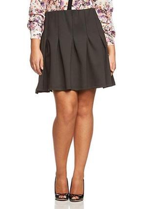 Брендовая черная юбка zizzi великобритания этикетка