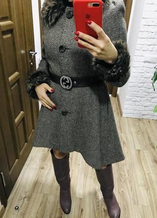 Пальто, осеннее пальто с мехом