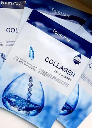 Тканевая маска с коллагеном farm stay visible difference mask sheet collagen