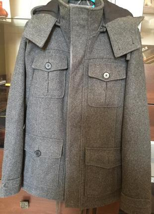 Шерстяное пальто topman