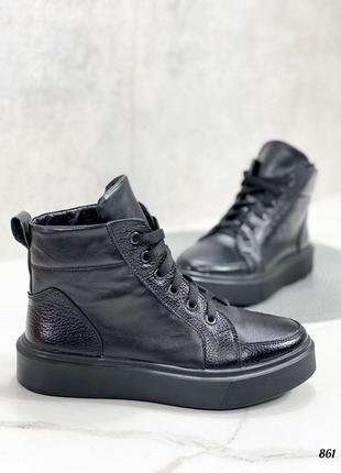 💥 стильные ботинки кожаные на шнурках