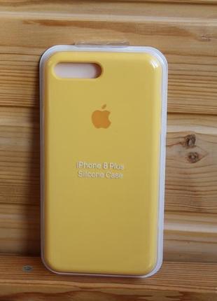 Чехол iphone 7+, 8+, plus silicone case айфон (стекло в подарок)