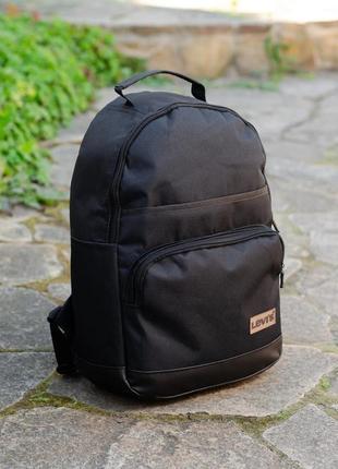 Рюкзак travel levi's черный дно из эко кожи