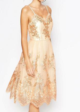 Невероятное платье ! выпускное вечернее торжественное шикарное  chi chi london