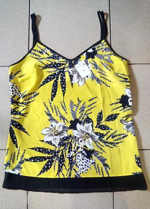 Новая стильная майка (блуза) в бельевом стиле f&f, размер м