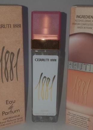 Мини парфюм дорожная версия 40мл стойкие cerruti 1881