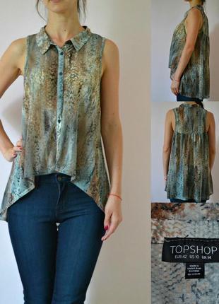 Блуза с воротником  topshop