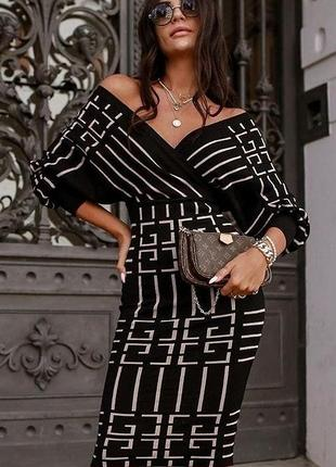 Платье чёрное осень турция