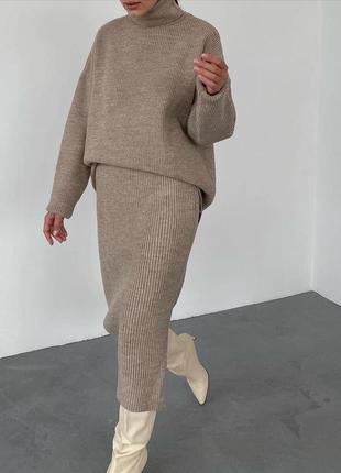 Шикарный трендовый костюм кофта + юбка много цветов