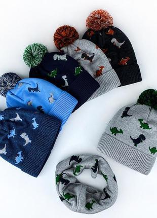 Шапка + хомут шарф динозавр 🦖 комплект набор