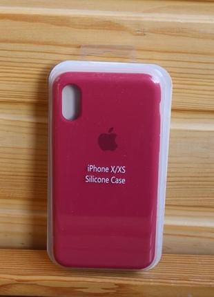 Чехол iphone x, xs, 10 silicone case айфон (стекло в подарок)