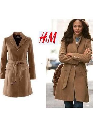 Актуальное пальто h&m цвета кэмел