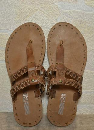 """Р.40 германия,""""pier one"""",100% натуральная кожа! стильные,легкие,мягкие шлёпанцы сандалии"""