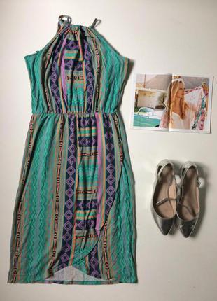 Літнє платтячко на запах з відкритими плечима f&f