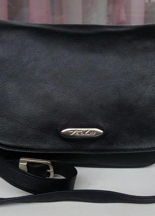 Стильная фирменная кожаная сумка cross-body tula.