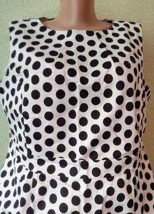 Обворожительное платье в горошек f&f.хлопок!!.размер 54-56.