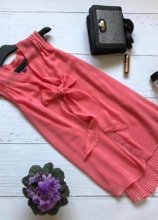 Оригинальная удлиненная блузка, на спинке плиссе warehouse
