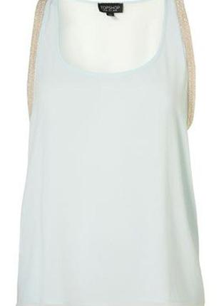Topshop блуза маечка с отделкой из бисера