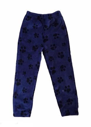 Очень тёплые, мягкие плюшевые пушистые домашние пижамные  штаны paw patrol, 110-116