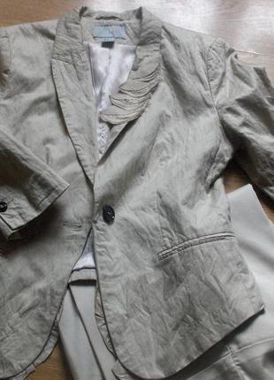 Шикарный нарядный  комплект h&m широченные брюки на манжете и жакет.