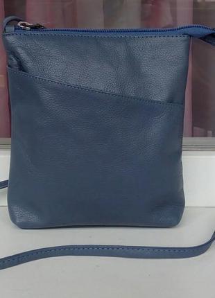 Стильная фирменная кожаная сумка cross-body hotter.