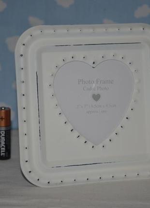 Фирменная металлическая рамка для фото декор прованс
