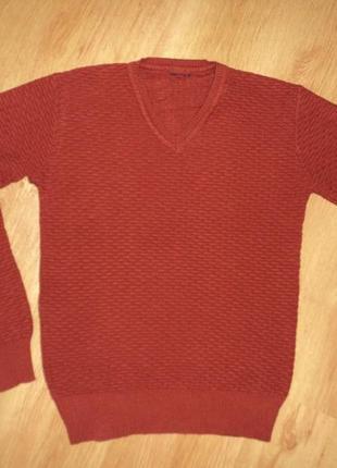 Свитер шерстяной подростковый woolline club бордовый