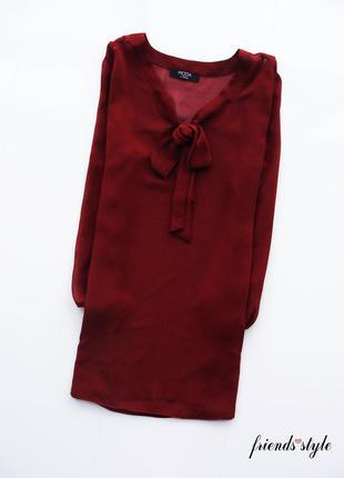 Легкая шифоновая блуза цвета марсала george