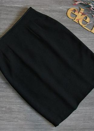 Базовая черная офисная юбка eur 38