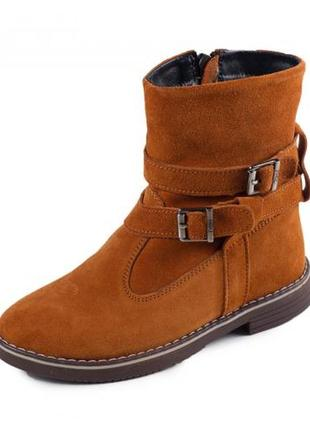 Детские ботинки!!! натуральный замш!!!