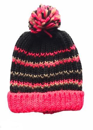 Тёплая вязаная детская шапка бини , takko fashion, 8-15 лет.