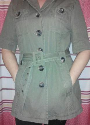 Блуза-жакет в стиле сафари