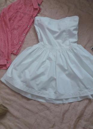 Красивое пышное платье бюстье marks&spencer