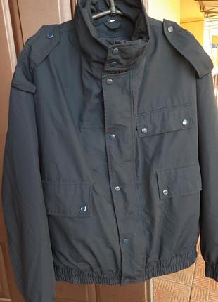 Мужская куртка с подстежкой темно- синего цвета