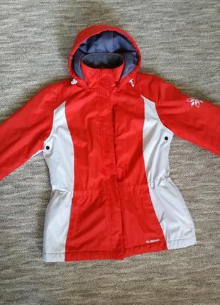 Курточка лыжная зимняя теплая glissade 50 р-р xxl  красно белая