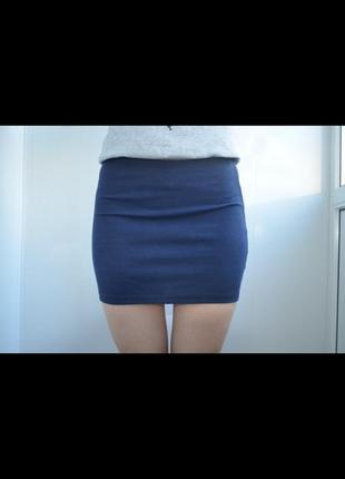 Мини юбка в рубчик