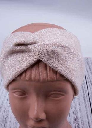 Повязка на голову мягкая с люрексом