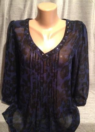 Тонкая прозрачная блуза размер 12/ 48.0045 next