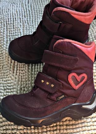 Зимние ботинки ecco с gore-tex размер 30 ст. 19.5 см