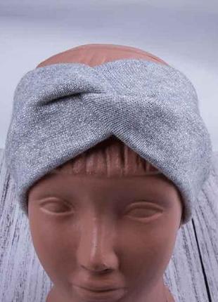 Повязка чалма на голову, повязка для волос с люрексом