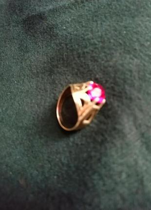 Шикарное серебряное кольцо с рубином / проба
