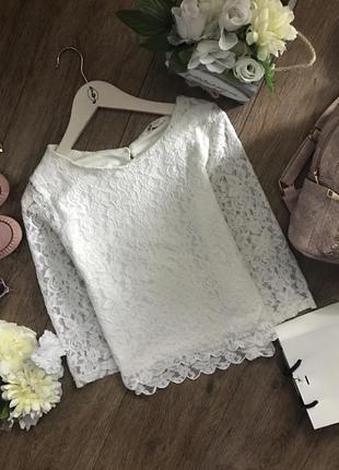 Блуза мереживна h&m
