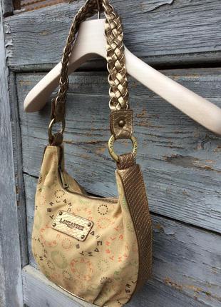 Lancaster маленькая сумочка с золотистыми ремешками и золотистым напылением