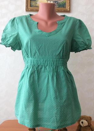 Натуральная летняя блуза. размер m-l.