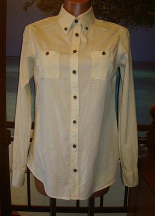 Рубашка цвета айвори хлопковая\хлопок р.8-10