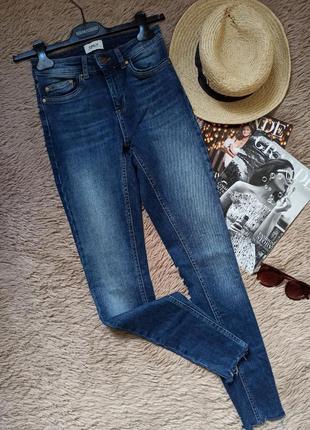 Крутые джинсы скинни с необработанным краем/штаны/брюки/джеггинсы