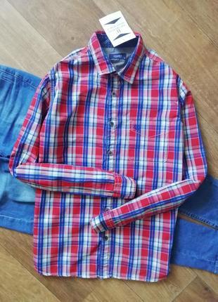 Стильная рубашка в клетку, сорочка, блузка, оверсайз, бойфренд